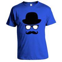 Moustache T-shirt, Men,  royal blue, m