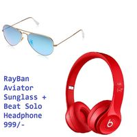 Rayban Aviator With Beat Solo Combo