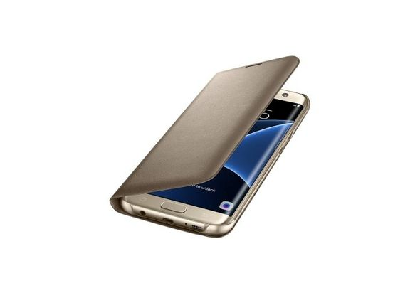 Samsung Galaxy S7 Edge LED Cover Gold