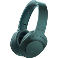 Sony MDR100ABN/L Noise Cancellation Bluetooth Headphones, Viridian Blue