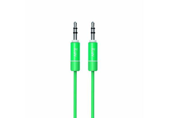 iLuv Premium Aux-In Audio Cable, Green