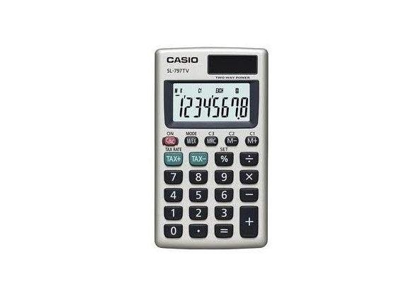Casio SL797TVGD-R Portable Type Calculator