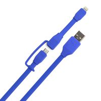 Tylt SYNCABLE-DUO charge and sync cable, Blue