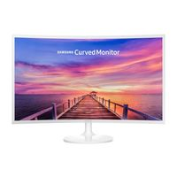 """Samsung 32"""" Curved LED Monitor, White"""