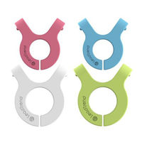 Lead Trend A-Clip Magnetic Cable Organiser, Pink/Blue/Grey/Green