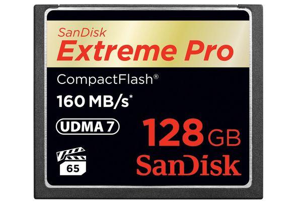 SanDisk SDCFXPS-128G-X46 128GB Flash Memory Card
