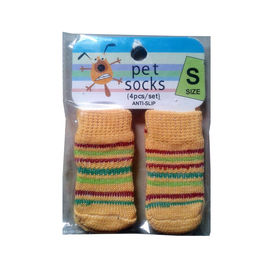 Bobo Anti Slip Socks for Toy to Small Breed Dogs, yellow stripes, small
