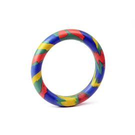 Kennel Solid Thin Rubber Dog Play Ring, 4 inch