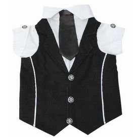 Zorba Party Tuxedo Suit for Small Breed Dogs, black & white, 16 inch