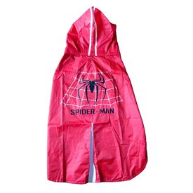 Rays Deluxe Printed Raincoat for Medium to Large Dogs, spiderman, 24 inch, red