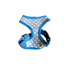 Puppy Love Spotted Cotton Vest Harness for Toy Breed Dogs, black, small