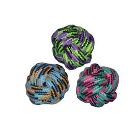 Canine Rope Tug Ball for Small and Medium Dogs, assorted, small