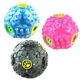 Funny Treat Ball with Quack Sound for Small Dogs and Cats, pink, medium