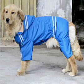 Puppy Love Reflective Jumpsuit Raincoat for Large Breed Dogs, blue, 7xl