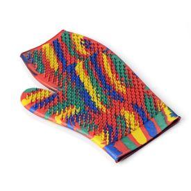 Kennel Thick Rubber Dog Bath Gloves, multicolour