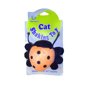 Cat Shaking Toy with Pull String, beetle bug