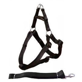 Canine Nylon Padded Body Harness Set for Medium Dogs, black