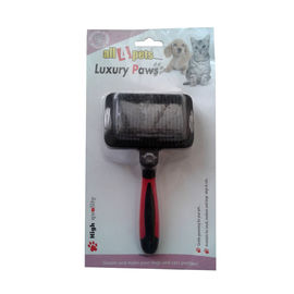 All4Pets Medium Slicker Brush for Dogs and Cats, black