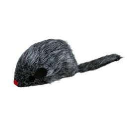 Trixie Germany Plush Mouse Wind Up Wriggle Cat Toy, 3 inch, black