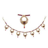 Torans / Door Hanging/ Bandhanwar in Pearls and red motis