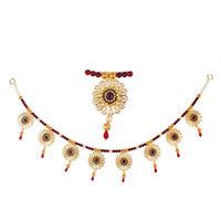 Torans / Door Hanging/ Bandhanwar in Pearls and Red brooch