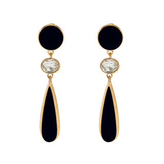 Black And White Long Fashion Earrings Dangler For Women