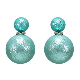 Blue Reversible Fashion Studs For Girls