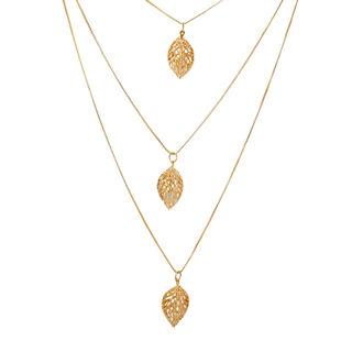 Elegant And Classy 3 Layer Gold Tone Chain Pendants