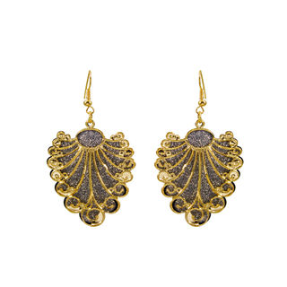Golden Silver Leaf Style Fashion Danglers For Girls