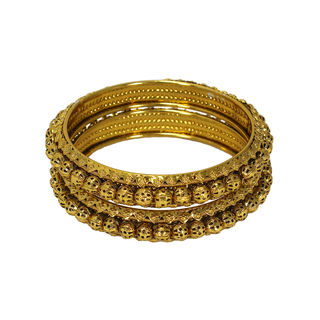 Stunning Gold Tone Bangles In Pack Of 2 For Women, 2-4