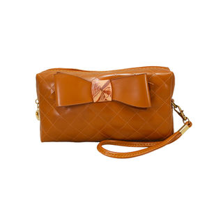 Trendy Brown Wallet Cum Sling Clutch For Women