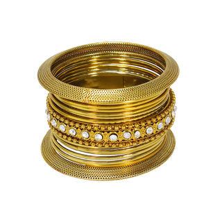 Elegantly Designed Attractive Gold Tone Bangles Sets, 2-6