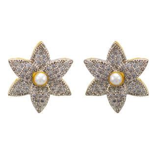 Adorable Floral Pair Of Stud Earrings