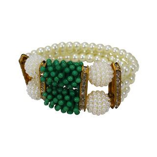 Beautiful Pearl Beaded Fashion Bracelet For Girls, adjustable