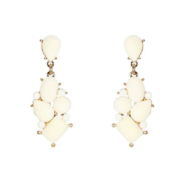 Beautiful White Stone Danglers & Drops Earrings