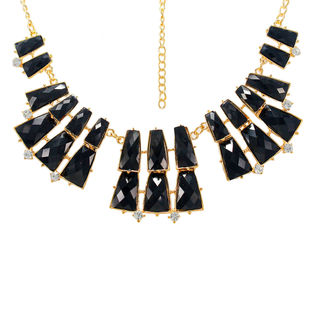 Unique Designer Black Stones Necklace On Alloy