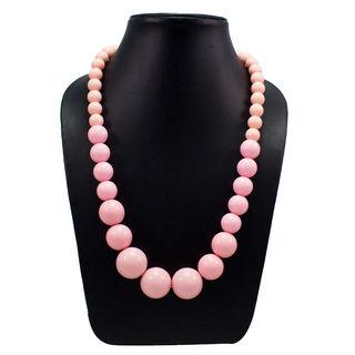Beautiful Light Pink Balls Stretchable Fashion Necklace