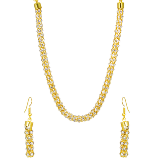 Golden Chain Embedded With CZ Stones For Women
