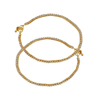 Golden Sleek Look Ethnic Payal For Women