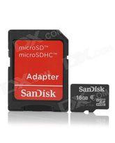 SANDISK MICROSD 16GB MEMORY CARD+ ADAPTER