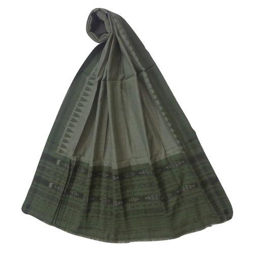 OSS403: Light Grey color Handloom cotton Dupatta