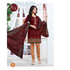 Fancy & Designer Party/Casual Wear Multicolor Cotton Salwar Suit with Dupatta