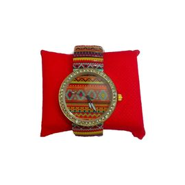 MULTICOLOR PRINTED Rajasthani watch SPRING STRAP WOMEN WATCH 2015 FASHION DESIGNER