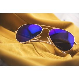 RAY BAN AVIATOR BLUE SUNGLASSES 654