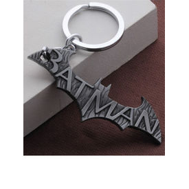 Batman Written Engraved Metallic Keychain Cutout