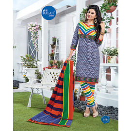 New Designer Daily Wear Multicolor Churidar Cotton Salwar Suit