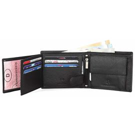 WILDHORN New HIGH Quality RFID Protected Men' S Genuine Leather Wallet/RFID Blocking Wallet for Men (Black)