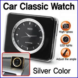 Classic Analog Watch Clock LED Light Interior for Car(Beige & Gold)