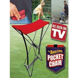 New Foldable Pocket Chair Portable Stool Chair For Camping Fishing+ Carry Case