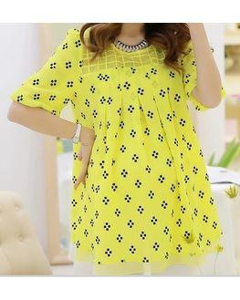 Beautiful Yellow Maternity Tunic, large